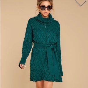 TEAL green Sweater dress
